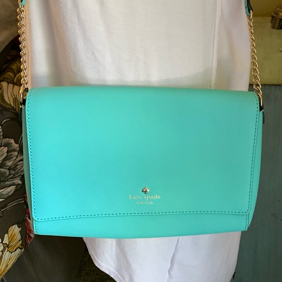kate spade Handbags - Kate Spade teal shoulder bag